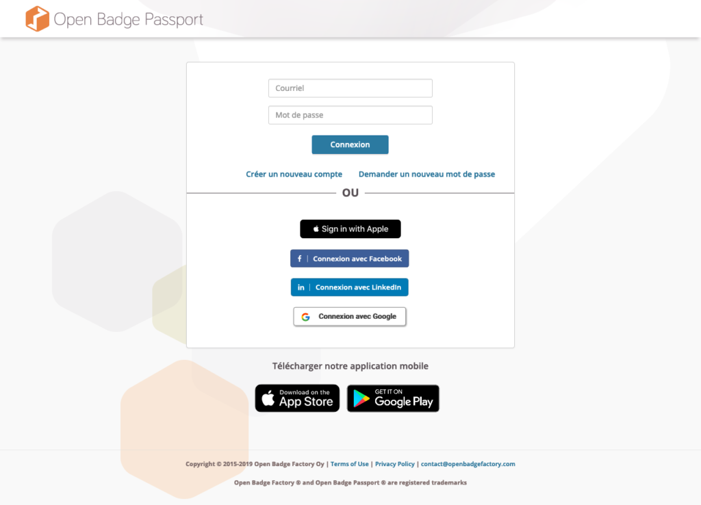 L'Application mobile Open Badge Passport est disponible